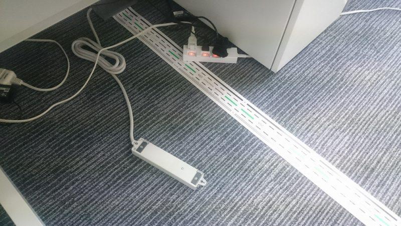 アンダーカーペット配線